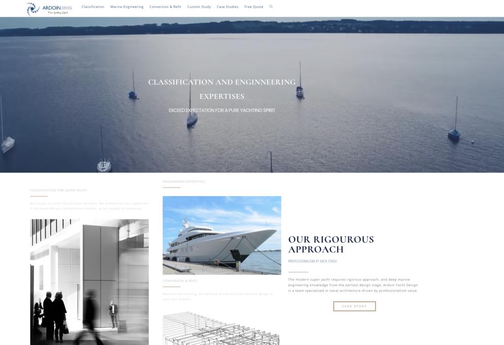 Image du site Internet d'un client dans le Luxe développé par www.cyberformation.fr